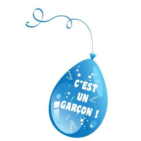Ballon c'est un garçon bleu baby shower - Décoration ballon de baudruche the duck