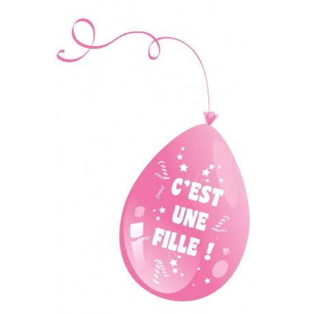 Ballon c'est une fille rose baby shower - Décoration ballon de baudruche latex the duck