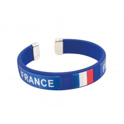 Bracelet France rigide Adulte - Déguisement supporter française the duck