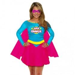 Déguisement de Super Connasse Turquoise Femme - Costume humour femme the duck