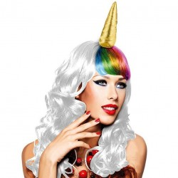 Perruque de Licorne Multicolore Femme