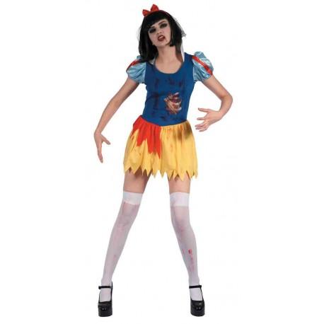 Déguisement de Pincesse Zombie Jaune et Bleue Femme