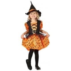 Déguisement de Sorcière Orange Fille - Costume sorcière halloween the duc