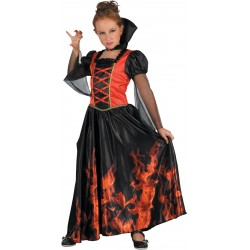 Déguisement de Vampire Enflammé Fille - Costume vampire enfant halloween the duck