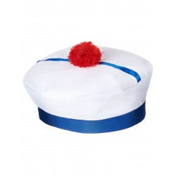 Chapeau de Marin Bleu & Blanc Adulte