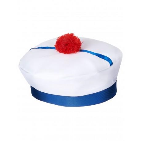 Chapeau de Marin Bleu & Blanc Adulte - Costume marin carnaval the duck