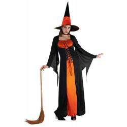 Déguisement de Sorcière Orange Femme - Costume sorcière halloween the duck