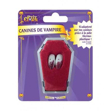 Canines de vampire sanglantes avec pâte - Déguisement vampire halloween the duck