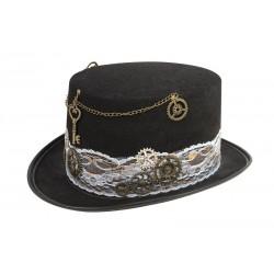 Chapeau de Steampunk Noir Femme
