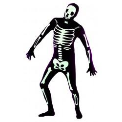 Déguisement Seconde Peau Squelette Noir & Blanc Adulte