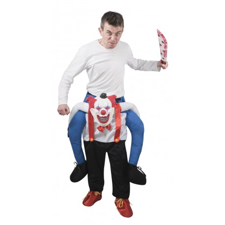 Déguisement de Clown d'Halloween assis dessus Carry Me Adulte - costume clown halloween the duck