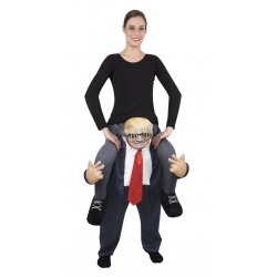 Déguisement de Trump assis dessus Carry Me Adulte - Costume trump humoristique the duck