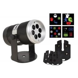 Projecteur LED d'Intérieur avec 4 cartes interchangeables - Décoration d'halloween carnaval the duck