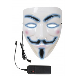 Masque d'Anonymous Lumineux LED Adulte - Déguisement masque film v pou vendetta the duck