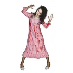 Déguisement de Femme Possédée Zombie Rose