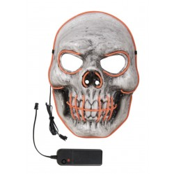 Masque de Squelette d'Halloween Lumineux LED Adulte