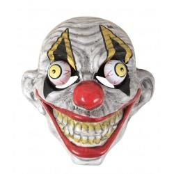 Masque de Clown Diabolique avec yeux sur ressort Adulte - Déguisement clown d'halloween the duck