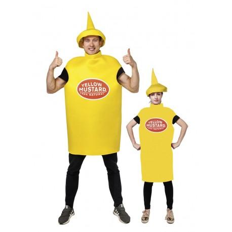 Déguisement de Pot de Moutarde Jaune Adulte - costume humoristique the duck
