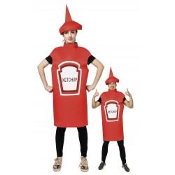 Déguisement de Pot de Ketchup Rouge Adulte