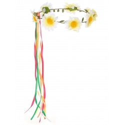 Couronne de Fleurs Hippie Adulte - Déguisement hippie adulte carnaval the duck