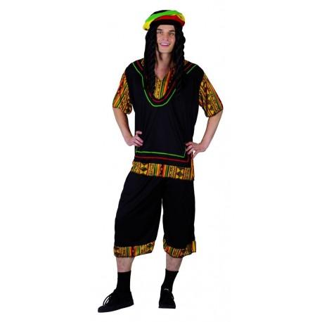 costume de Rasta Noir Adulte - déguisement rasta humoristique carnaval the duck