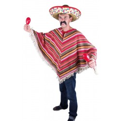 Costume de Mexicain Poncho Adulte - Déguisement mexicain carnaval the duck