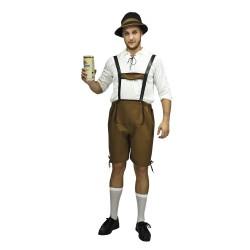 Costume de Bavarois Marron Adulte - déguisement bavarois october fest the duck