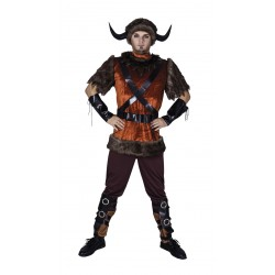 Costume de Viking Marron Adulte - Déguisement viking games of thrones the duck