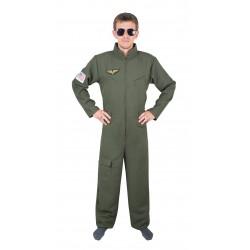 Déguisement de Pilote de Chasse Vert Adulte