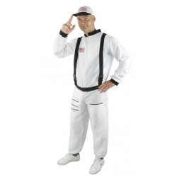 Costume Astronaute Blanc Adulte - déguisement astronaute carnaval the duck