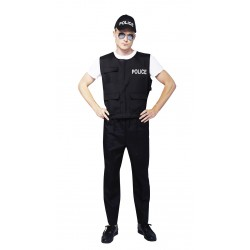 Costume de Police Adulte - Déguisement policier carnaval the duck