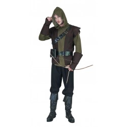 Costume d'Archer Marron, Vert & Noir Adulte - Déguisement the arrow the duck