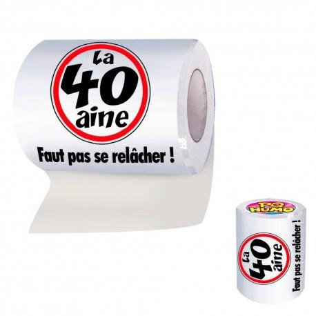 """Papier Toilette WC 40aine """"Faut pas se relâcher !"""" - Objet humoristique papier toilette the duck"""