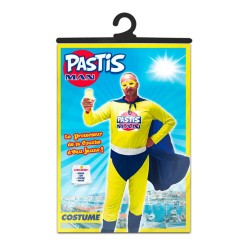Costume de Pastis Man Jaune & Bleu Adulte - déguisement humoristique carnaval the duck