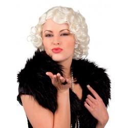 Perruque Courte Blonde Platine Femme