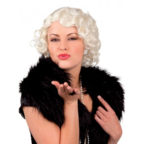 Déguisement Perruque Blonde Platine Femme - Costume Perruque The Duck