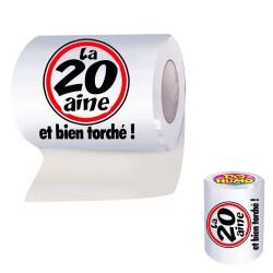 """Papier Toilette WC 20aine """"et bien torché !"""" - Cadeau humoristique papier the duck"""