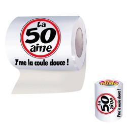 """Papier Toilette WC 50aine """"J'me"""" la coule douce !"""" - cadeau humoristique papier toilette the duck"""