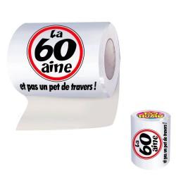 """Papier Toilette WC 60aine """"et pas un pet de travers !"""" - papier toilette humoristique the duck"""