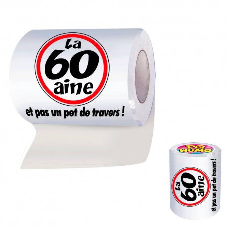 "Papier Toilette WC 60aine ""et pas un pet de travers !"" - papier toilette humoristique the duck"