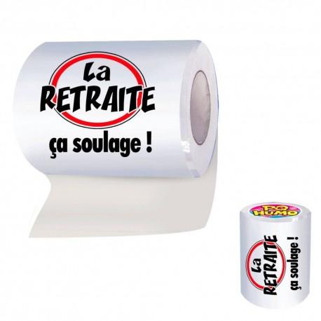 """Papier Toilette WC Retraite """"ça soulage - cadeau humoristique retraite the duck"""
