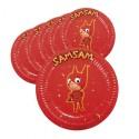 Sachet de 6 Assiettes Carton SamSam