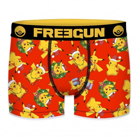 Boxer Pokemon Pikachu Rouge et Jaune FREEGUN - Caleçon Pokemon Garçon Habits The Duck