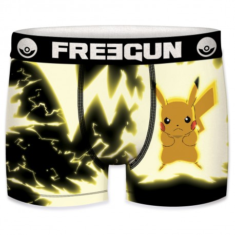 Boxer Pokemon Pikachu Noir FREEGUN - Caleçon Pokemon Garçon Habits The Duck