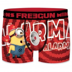 Boxer Minions Alerte Rouge Homme FREEGUN - Caleçon Moi Moche et Méchant Collection The Duck