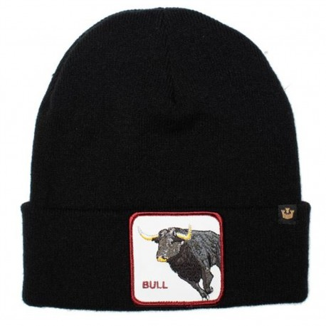 Bonnet Taureau Noir BULL GOORIN BROS - Bonnet Animal Mode Pas Cher The Duck