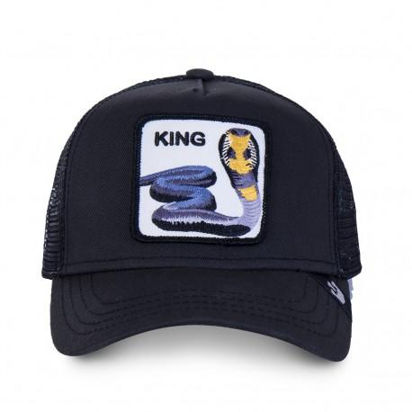 Casquette Serpent Noire KING GOORIN BROS - Casquette Animaux Mode Pas Cher The Duck