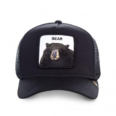 Casquette Bear Noire GOORIN BROS - Casquette Animaux Mode Pas Cher The Duck