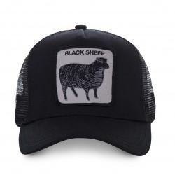 LaCasquette Sheep Noire GOORIN BROSest réglable et brodée d'un patch représentant un mouton. Ce modèle à la fois simple et raffiné de casquette à la mode, est fait pour vous, alors n'attendez plus !